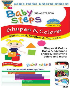 Baby Steps Shapes & Colors -Rainbow & Circle & Squares poster