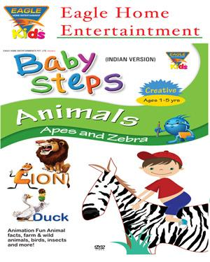 Baby Steps Animals -Apes And Zebra poster