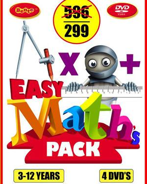 Easy Maths  For Kids 4 DVD Pack poster