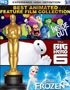 Best Animated Feature Film Collection - Inside Out, Big Hero 6 & Frozen DVD