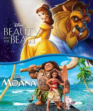 Moana & Beauty And The Beast poster