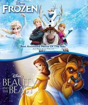 Frozen & Beauty And The Beast poster