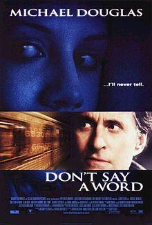 DON'T SAY A WORD  movie