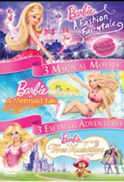 Barbie 3 Magical Movies - (Fashion Fairytale, Mermaid Tale, Three Musketeers) DVD