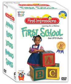 Brainy baby first impression first school set of 5 dvd poster