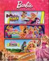 BARBIE 3 MOVIE COLLECTION Barbie in Princess Power -Barbie and the Secret Door-Barbie Princess charm DVD