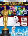 Best Animated Feature Film Collection - Inside Out, Big Hero 6 & Frozen BluRay