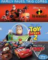Family Faves Trio Combo - The Incredibles,Toy Story 2 and Cars 2 BluRay