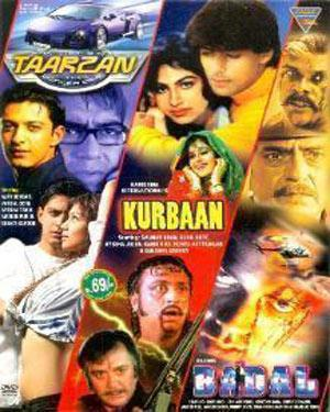 3 in 1-Kurbaan - Badal - Tarzan The Wonder Car poster