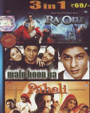 3 in 1-Ra.One-Main Hoon Na-Paheli  movie