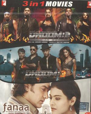DHOOM3-DHOOM2-FANAA poster