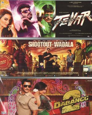3 In 1 Tevar - Shootout At Wadala -Dabangg 2 poster