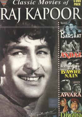 CLASSIC MOVIES OF RAJ KAPOOR 5 MOVIE DVD PACK  movie