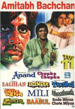 AMITABH BACHCHAN -TOP 11 Movie poster