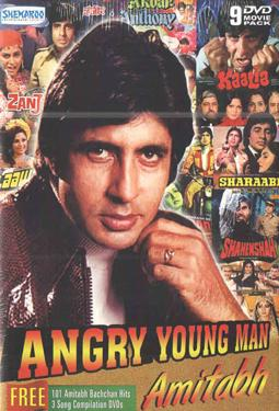 ANGRY YOUNG MAN AMITABH 9 DVD MOVIE PACK poster
