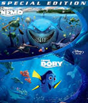 Finding Nemo & Finding Dory BluRay