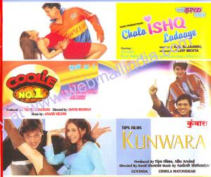 CHALA ISHQ LADAAYE - COOLIE NO.1 - KUNWARA - 3 in 1 DVD