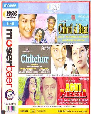 CHHOTI SI BAAT - CHITCHOR - AGNI PAREEKSHA - 3 in 1 DVD  movie