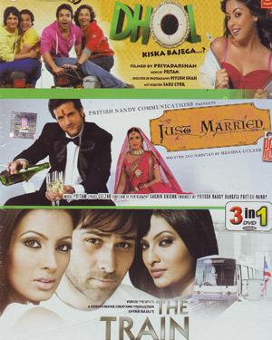 Dhol - Just Married - The Train - 3 in 1 DVD  movie