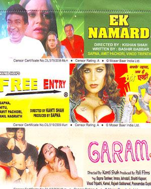 Ek Namard - Free Entry - Garam - 3 in 1 DVD poster