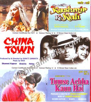 KASHMIR KI KALI - CHINA TOWN - TUMSE ACHHA KAUN HAI - 3 in 1 DVD  movie