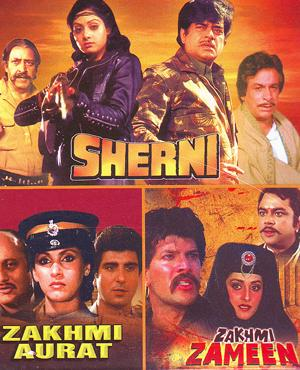 SHERNI (SRIDEVI) - ZAKHMI AURAT - ZAKHMEE ZAMEEN - 3 in 1 DVD   movie