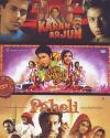 3 in 1-Karan Arjun-Om Shanti Om-Paheli DVD