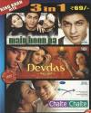3 in 1-Main Hoon Na-Devdas-Chalte Chalte DVD