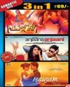 3 in 1-Rockstar -Anjaana Anjaani - Mausam DVD