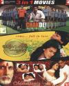 3 in 1 -Chak De India-Dilwale Dulhania Le Jayenge-Mohabbatein DVD