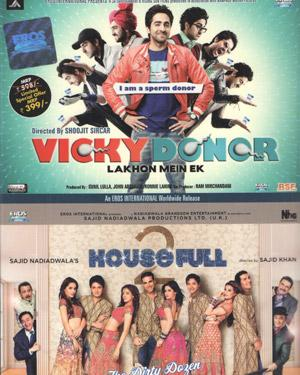 Vicky Donor & Housefull 2 poster