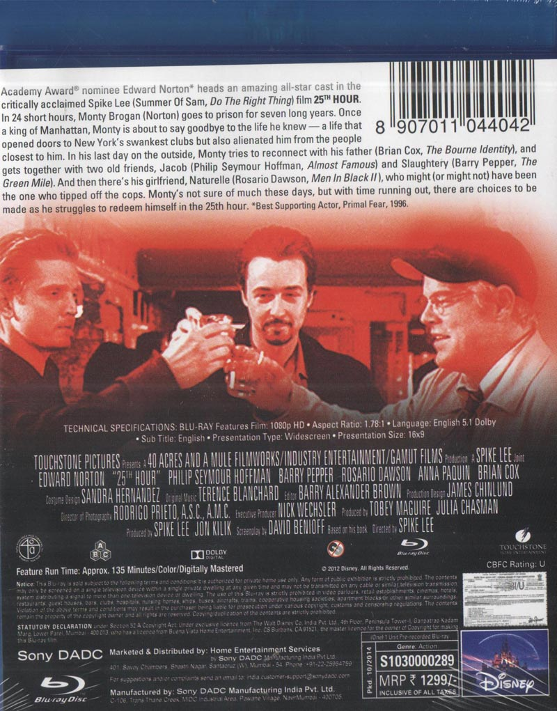 25th hour movie analysis