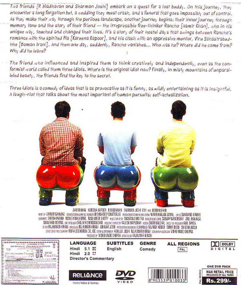 Write a film review of three idiots torrent