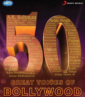 50 Greatest Voices of Bollywood  music