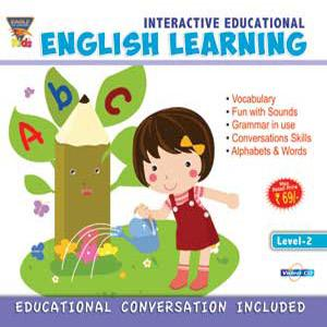 INTERACTIVE EDUCATIONAL English Learning Level-2 poster