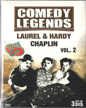 COMEDY LEGENDS LAUREL & HARDY CHAPLIN VOL . 2 poster