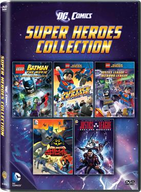 DC Comics Super Heroes Collection: 5-DVD pack poster